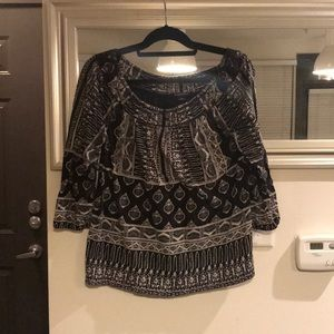 Lucky Brand black and grey top
